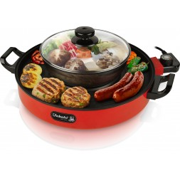 Electric Teppanyaki With Steamboat, Size Ø36cm
