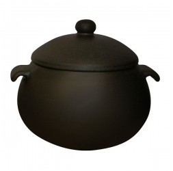 Heat-Resistant Earthen Pot Premium Wide Rim Series, 6.5-Litre