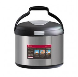 Energy-Saving Thermal Cooker With Warmer, Size: 6.0-Litre + 2.5-Litre